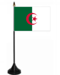Algeria Desk / Table Flag with plastic stand and base.